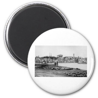 Ruins in front of the Capitol in Richmond, 1865 Fridge Magnets