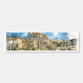 Ruins in Rome Bumper Sticker