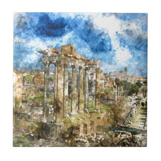 Ruins in Rome Ceramic Tile