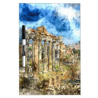 Ruins in Rome Dry Erase Board