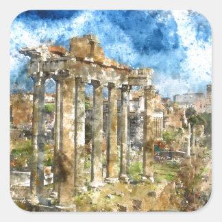 Ruins in Rome Square Sticker