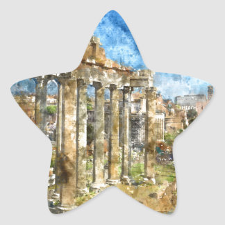 Ruins in Rome Star Sticker
