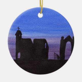Ruins In the Gloaming Ceramic Ornament