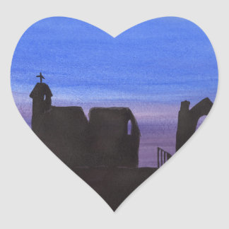 Ruins In the Gloaming Heart Sticker