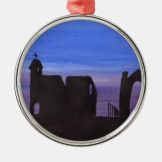 Ruins In the Gloaming Metal Ornament