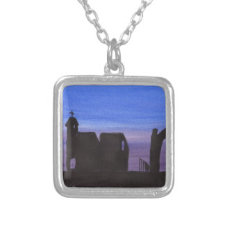 Ruins In the Gloaming Silver Plated Necklace