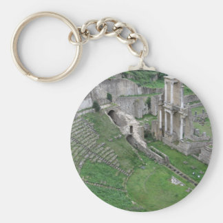 Ruins of a antique roman amphitheater keychain