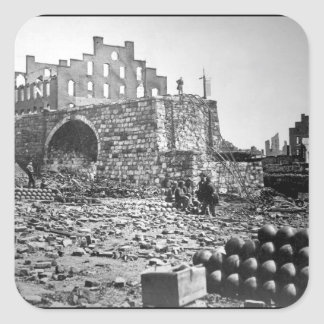 Ruins of Arsenal, Richmond.  April 1865. Alexander Square Sticker