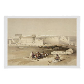 Ruins of Baalbec, May 5th 1839, plate 77 from Volu Poster
