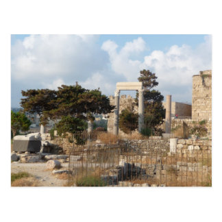 Ruins Of Byblos Postcard