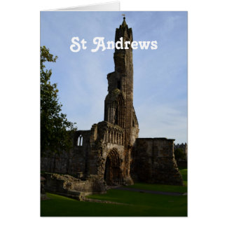 Ruins of St Andrews Card