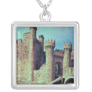 Ruins of the Castle of the Knights Templar Silver Plated Necklace
