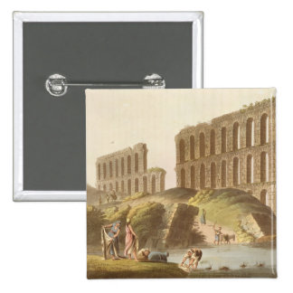 Ruins of the Grand Aqueduct of Ancient Carthage, p 2 Inch Square Button