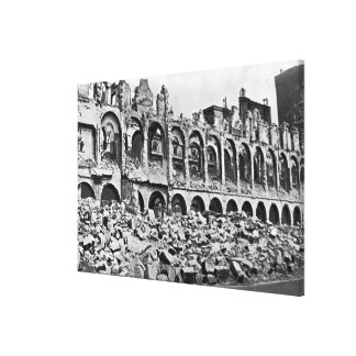 Ruins of the Ministry of Finance Stretched Canvas Print