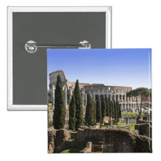 Ruins of the Roman Colosseum from Il Palatino, 2 Inch Square Button