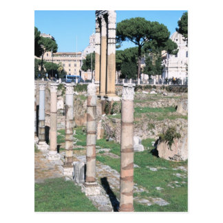 Ruins of the Temple of Castor and Pollux, Italy Postcard