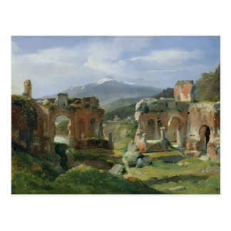 Ruins of the Theatre at Taormina Postcard