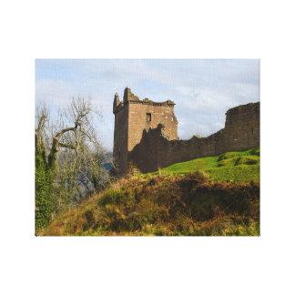 Ruins of Urquhart Castle along Loch Ness, Scotland Canvas Print
