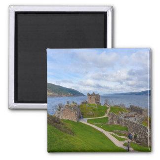 Ruins of Urquhart Castle along Loch Ness, Scotland Magnet