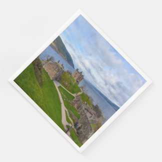 Ruins of Urquhart Castle along Loch Ness, Scotland Paper Napkins