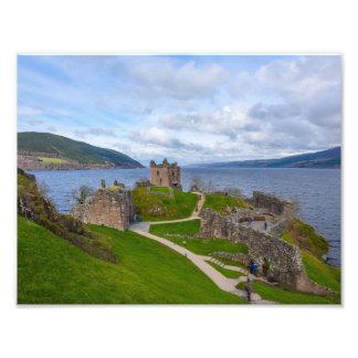Ruins of Urquhart Castle along Loch Ness, Scotland Photo Art