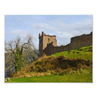 Ruins of Urquhart Castle along Loch Ness, Scotland Photograph
