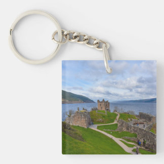 Ruins of Urquhart Castle along Loch Ness, Scotland Single-Sided Square Acrylic Keychain