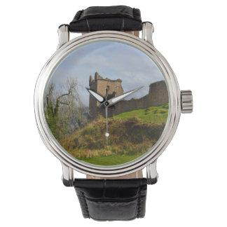 Ruins of Urquhart Castle along Loch Ness, Scotland Wristwatches