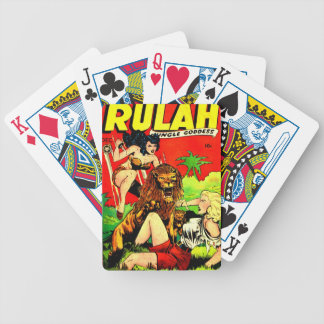 Rulah and a Big Scary Lion Bicycle Playing Cards