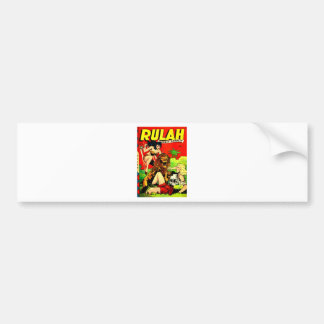 Rulah and a Big Scary Lion Bumper Sticker