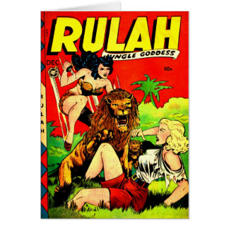 Rulah and a Big Scary Lion Card