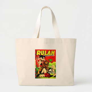 Rulah and a Big Scary Lion Large Tote Bag