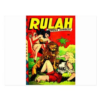 Rulah and a Big Scary Lion Postcard
