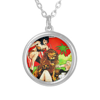Rulah and a Big Scary Lion Silver Plated Necklace