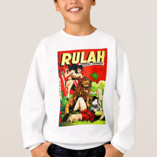 Rulah and a Big Scary Lion Sweatshirt