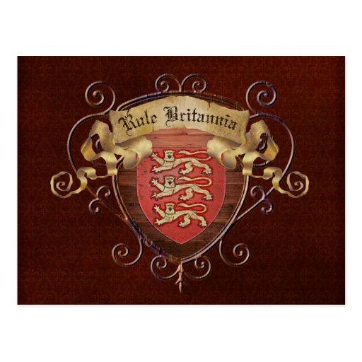 Rule Britannia Postcard