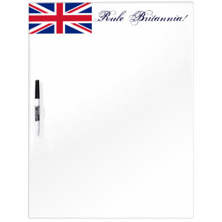Rule Britannia!-Union Jack Flag Dry-Erase Whiteboard