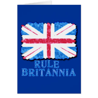 RULE BRITANNIA with Union Jack Tshirts Card