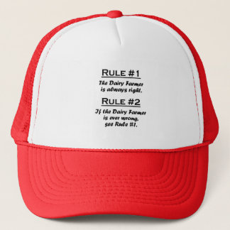 Rule Dairy Farmer Trucker Hat