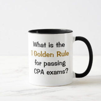 Rule for Passing CPA Exams - Accounting Humor Mug