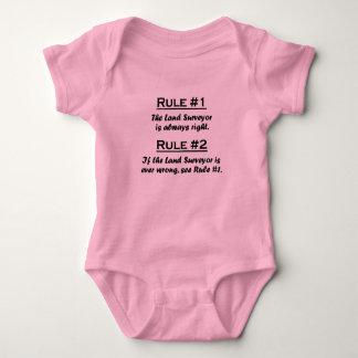 Rule Land Surveyor Baby Bodysuit