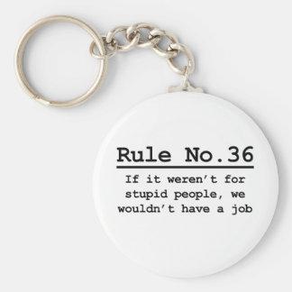 Rule No. 36 Keychain