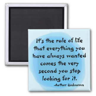 """""""RULE OF LIFE"""" SQUARE MAGNET"""