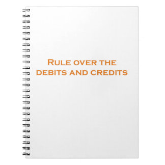 Rule over the Debits and Credits Notebook