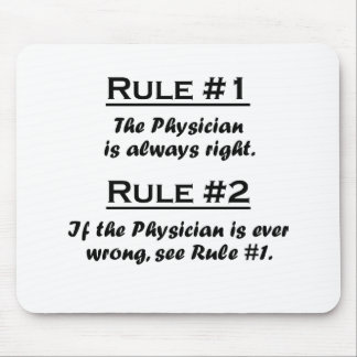 Rule Physician Mouse Pad