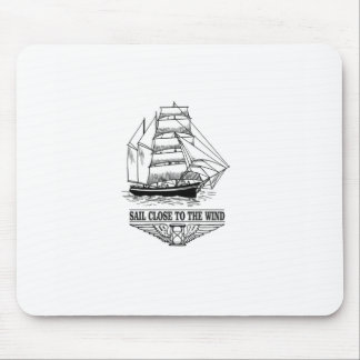 rule sail close to the wind mouse pad