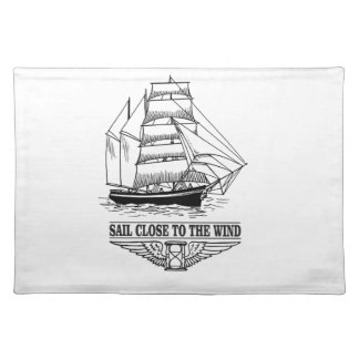 rule sail close to the wind placemat