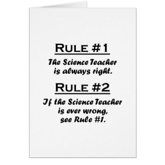 Rule Science Teacher Card