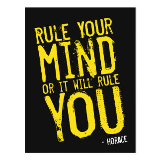 Rule Your Mind - self-discipline poster Postcard