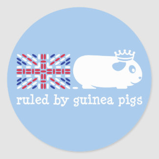 Ruled by Guinea Pigs Classic Round Sticker